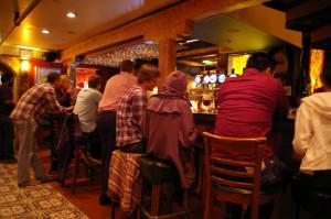 bar lineup at la trappe