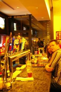 tap selection at burger bar sf