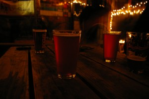 beers on the rogue patio