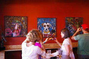 3D artwork in the taproom
